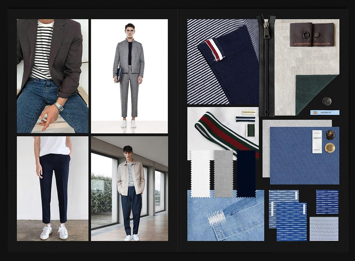 Menswear Board Andrea Busnelli Fashion Design