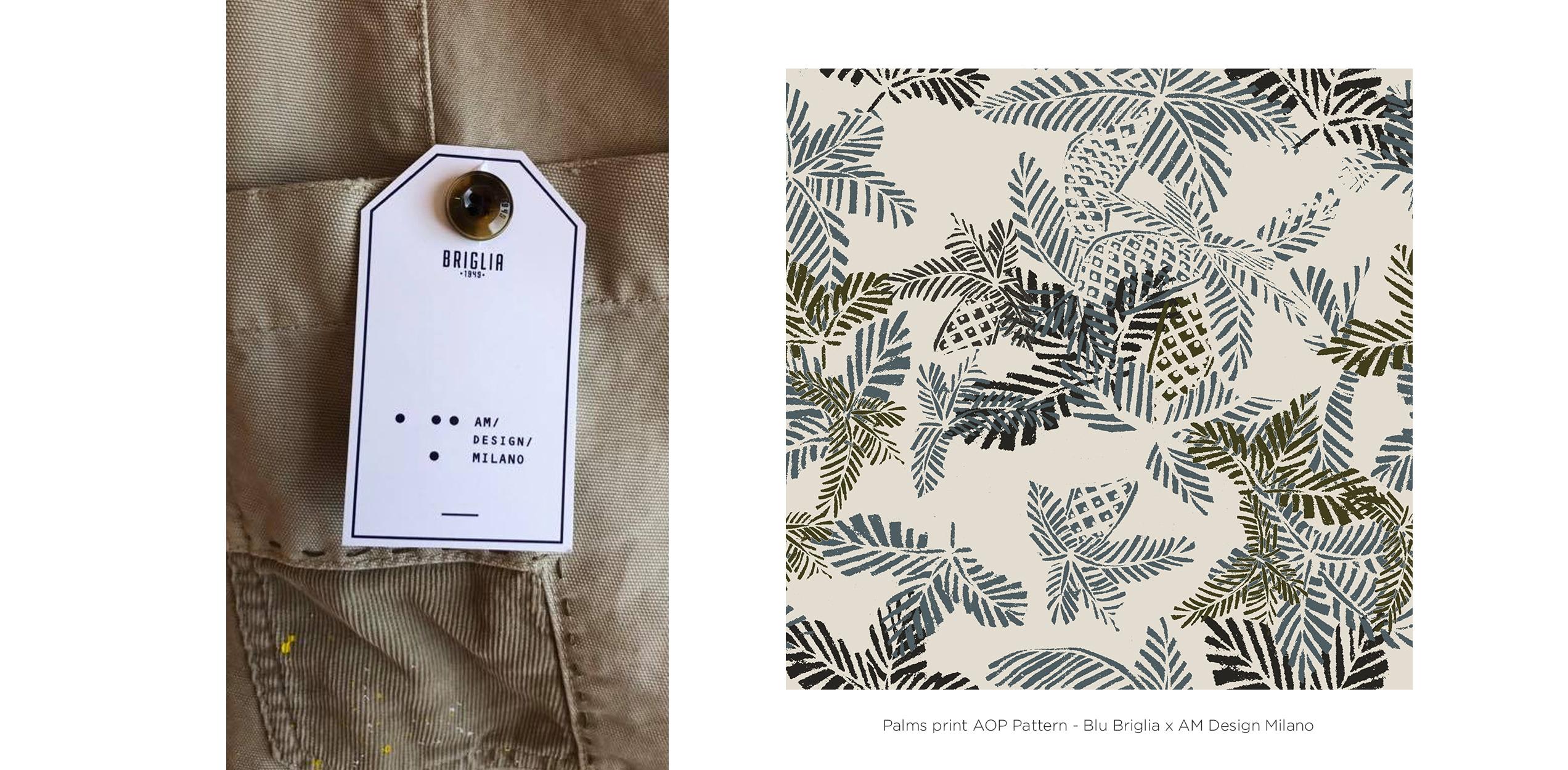 Andrea Busnelli Fashion Graphic Designer AM. Design x Blu Briglia Milano